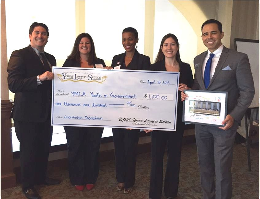 YLS Present YMCA Youth In Government With Donation