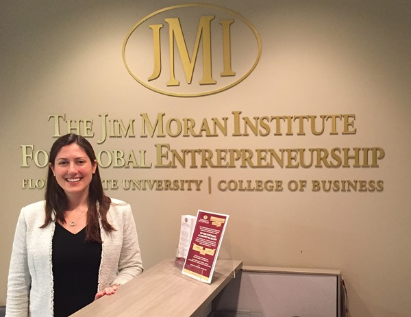 Liza Smoker Speaks At The Jim Moran Institute For Global Entrepreneurship