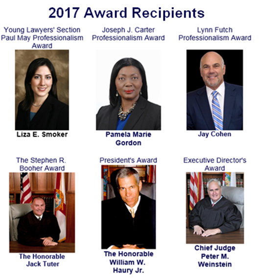 Congratulations To The Broward County Bar Association's 2017 Award Recipients And Our Attorney, Liza Smoker, For Receiving The Paul May Professionalism Award!