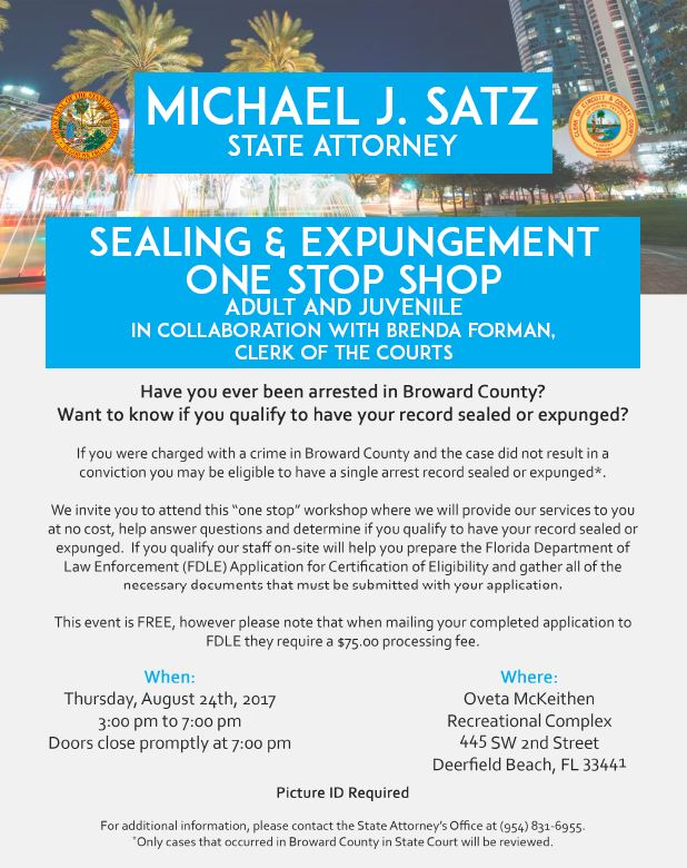 Free Sealing And Expungement Clinic Takes Place Tomorrow Afternoon – Open To All!