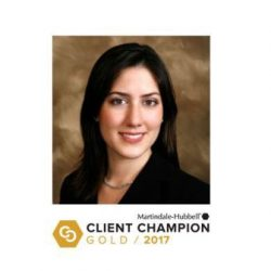 Liza Smoker Receives Martindale-Hubbell Gold Client Champion Award