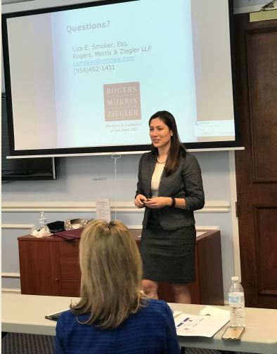 Liza Smoker, Presents On Legal Issues For Not-for-Profit Organizations